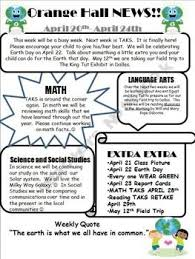 Editable Weekly Classroom Newsletter Classroom Newsletter