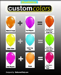 Qualatex Balloons Color Chart How To Create Custom Balloon Colors Balloons Party