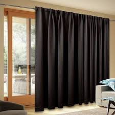 Blackout Patio Door Curtain Panel - Home Decoration Back Tab Thermal  Insulated Sliding Door Curtains, Wide Width Window Drapes for Bedroom by  NICETOWN ...