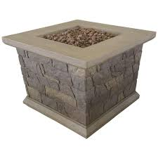 bond manufacturing corinthian 34 in square envirostone propane fire pit 66596 the home depot
