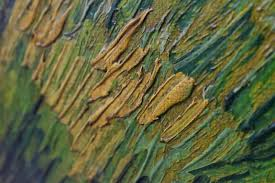 in the following image where you see dabs of color representing flowers some dabs have brush marks and some don t this is an example of van gogh painting