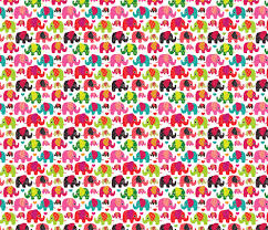 Elephant Pattern Delectable Cute Retro Kids Elephant Pattern Fabric Fabric Littlesmilemakers
