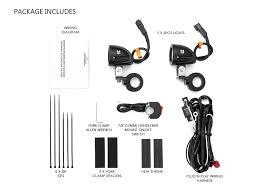 motorbike quad spotlights wiring harness bar clamps 10w led motorbike quad spotlights wiring harness bar clamps 10w led for 22 to 28mm