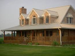 country brick home plans with wrap around porch