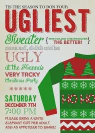 Tacky Christmas Party Invitations Ugly Sweater Pa Luxury