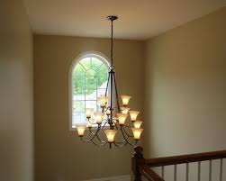 entry foyer chandelier