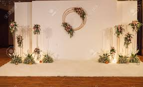 Wedding Photo Background White Floral Wedding Backdrop Background Wedding Ceremony Special