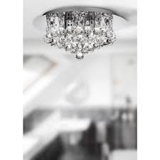 hanna 4 light small crystal bathroom ceiling fitting with polished chrome finish