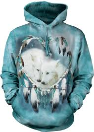 native american dreamcatcher wolf. Delighful Dreamcatcher Wolves  Wolf Dreamcatcher Native American Adult Hoodie The  Mountain  To T