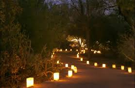 paper bag lanterns luminaria