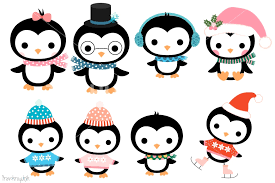 cute penguin christmas clipart. Cute Penguin Family Clipart Set Christmas Penguins Winter Characters By Pravokrugulnik TheHungryJPEGcom In