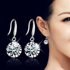 new fashion earrings flash rhinestone korean trendy bohemian dangle drop jewelry