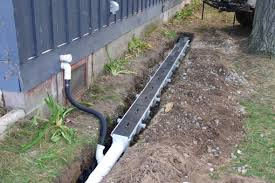 underground gutter drainage. Installation Of Channel Drain System (Dura Slope By NDS) For In-ground Gutter Underground Drainage