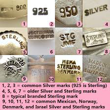 vine jewelry marks for silver purity great to know native american jewelry marks