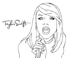 Small Picture Taylor Swift singing coloring page Coloringcrewcom