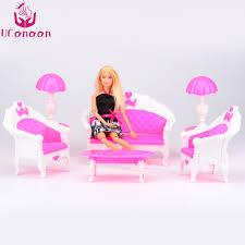 barbie dollhouse furniture cheap. UCanaan 6 PCS Anak Mainan Dollhouse Furniture Ruang Tamu Sofa Plastik Set Untuk Barbie Doll Aksesoris Hadiah Terbaik Di Boneka Dari Cheap H