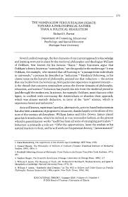 the nominalism versus realism debate toward a philosophical  the nominalism versus realism debate toward a philosophical rather than a political resolution pdf available