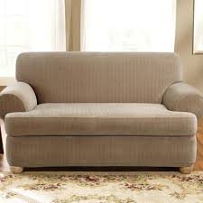 sure fit t cushion sofa slipcover cotton duck designer suede individual 3 seat