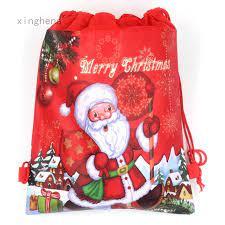 Túi Dây Rút Đựng Quà Giáng Sinh Hình Ông Già Noel Tuần Lộc 1