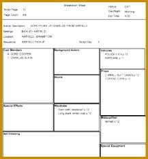 script breakdown sheet 4 script breakdown sheet template fabtemplatez
