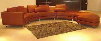 brown leather ultra modern 4pc modular sectional sofa