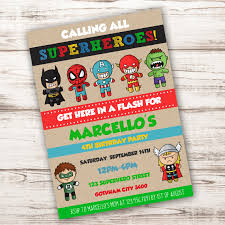 superheroes birthday party invitations superhero birthday party invitation template edit with adobe