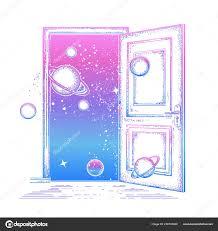 Otevřené Dveře Vesmíru Tetování Symbol Fantazie Kreativní Představa
