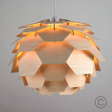 Contemporary Ceiling Light Shades Modern Wood Artichoke Style Ceiling Pendant Light Lamp Shade