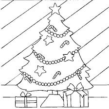 Kleurplaat Kerst Kerstbomen Pakjes Onder De Kerstboom