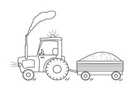Kleurplaat Tractor