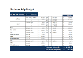 Travel Cost Calculator Business Trip Budget Template 2 At Xltemplates Org Budget
