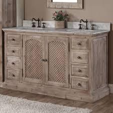 rustic white bathroom vanities. Rustic Style Quartz White Marble Top 60-inch Double Sink Bathroom Vanity Vanities D