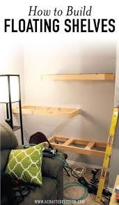 how to build diy floating shelves image