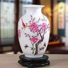 The ceramics small vase decorated living room decoration flower vase Home  Furnishing Wedding Table crafts decoration