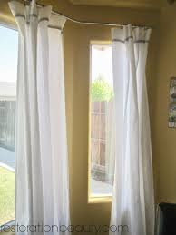 ... Large Size of Window Curtain:amazing Nice Curved Window Curtain Rod  Bendable Poles For Bay ...