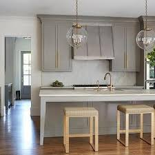 gold kitchen faucet. Gray Kitchen Island With Gold Counter Stools Faucet