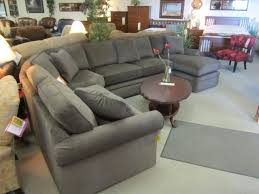 lazy boy collins sectional grey
