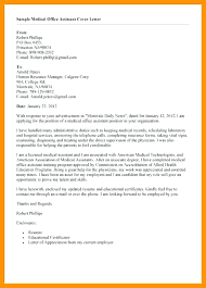 Examples Of Medical Assistant Cover Letters Cover Letter Medical ...