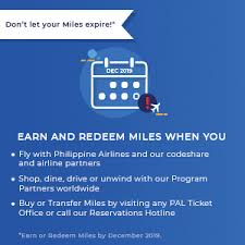Mabuhay Miles Redemption Chart Domestic Mabuhay Miles