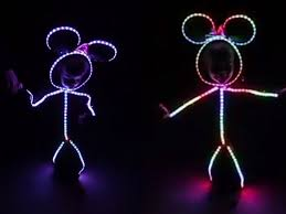Light Up Stick Figure Costume Uk Watch Adorable Glowy Zoey Don Glow In The Dark Minnie Mouse