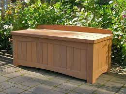 outdoor wood storage bench waterproof home improvement 2017 wooden outdoor storage chest