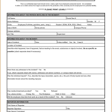 Security Incident Report Template Download And Security Incident
