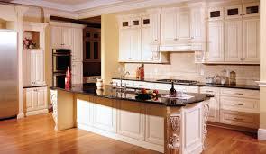 Glazed White Kitchen Cabinets Antique White Cabinets With Glaze Antique White Kitchen Cabinets