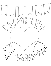 I love you daddy coloring page free printable valentines day customizable,printable free download on cute valentines template