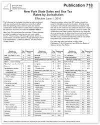 Ny Sales Tax Rate Sheet