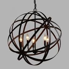 rustic orb chandeliers rustic orb chandelier wrought iron chandeliers