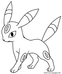 Small Picture Eevee Evolution Coloring Pages Printable