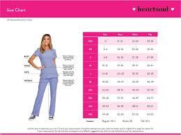 Scrubs Size Chart Heartsoul Size Chart Groupscrubs Com