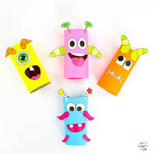 Toilet Paper Roll Monster Craft | Arty Crafty Kids