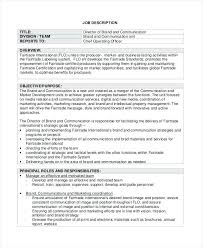 Business Manager Job Description Sample Operations Manager Resume ...